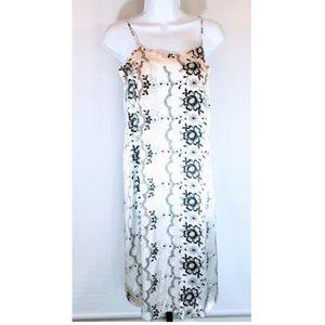 Nieves Lavi New York Silk Tie Back Slip Dress